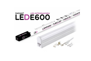 Tubo LED Integrado E600 60CM 8W 6500K Luz Fría 700LM