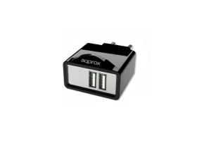 Cargador para red 2 Puertos USB 5V